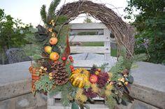 Harvest Wreath Autumn Wreath Fall Wreath 18 by TheBloomingWreath, $44.99 Wreath Fall, Autumn Wreaths, Harvest, Fall Ribbon Wreath, Fall Wreaths, Fall Wreaths