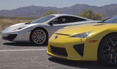 Head 2 Head: Bugatti Veyron vs Lamborghini Aventador vs Lexus LFA vs McLaren MP4-12C    Crazy street race....