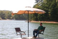 Charmant The Relaxation Station Package From @Wahoo Docks Includes 2 Captainu0027s  Swiveling Dock Chairs And A
