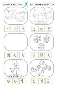Craft Activities For Kids, Worksheets For Kids, Learning Italian, Montessori, Coding, School, Blog, Crafts, Winter Activities