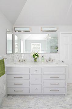 White and gray bathr