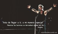 metallica, frases de metallica, The Small Hours, Garage Inc. frases de amor, metal, rock, frases de metal Music Letters, Rock Quotes, Freestyle Rap, Motivational Phrases, You Rock, Music Quotes, Song Lyrics, Good Music, Rock N Roll