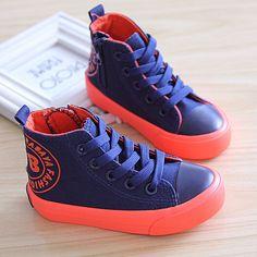 Child canvas shoes boys shoes single shoes boys sneakers