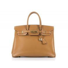 5777b89aed5 Hermes Gold Vasche Natural Birkin 35cm Bag