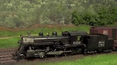Boston and Maine Cheshire Branch Railroad K-7  2-8-0 on  Freight Train H...