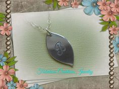 Personalized Sterling Silver Leaf Necklace – Fabulous Creations Jewelry