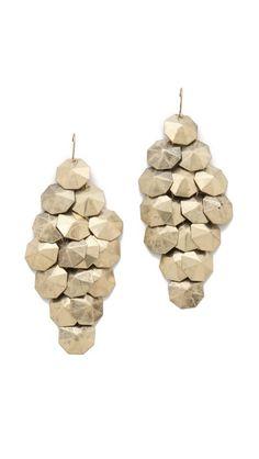disc chandelier earrings