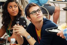 dylan o'brien winking in glasses the internship gif