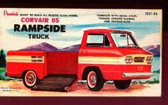 Rampside Corvair 95 truck model kit box art