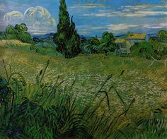 Vincent van Gogh, Green Wheat Field with Cypress (1889)