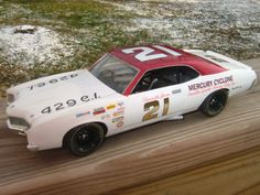 Parnelli Jones 1970 Mercury Cyclone. Various decals, wheels and tires by Plastic Performance Products.