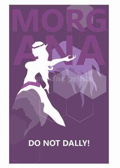 Morgana: Liga de impresión leyendas por pharafax en Etsy