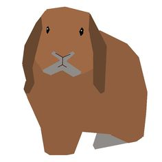 Lop Rabbit paperpiecing pattern PDF by SchenleyP on Etsy, $3.00