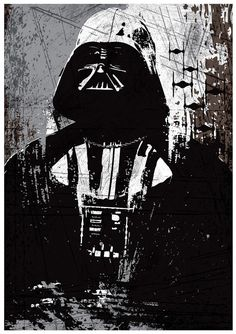 Star Wars All Black Darth Vader Stormtrooper and por Posterinspired