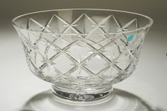 Tipperary Crystal Bowl A crystal glass bowl in the Trellis pattern, designed by Sybil Connolly and manufactured by Tipperary Crystal in Ireland. Sold in Tiffany & Co, NYC.