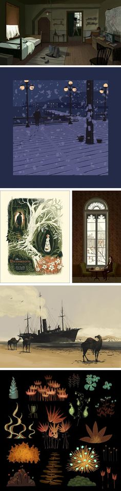 Chris Turnham Character Design, Backgrounds, Environment, Animation, Illustrations, Comics, Drawings, Painting, Inspiration