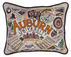 Catstudio: Auburn University Embroidered Pillow – southern ELEVATION