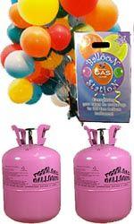 Danmarks billigste helium! To størrelser; 0,25m3 (nok ballongas til 30 små/15 alm. balloner) og 0,41m3  (nok ballongas til 50 små/25 alm. balloner). Pris Februar 2016: 199 kr. og 299 kr.