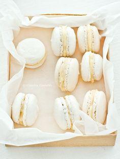 vanillacha-i:  White cream macarons