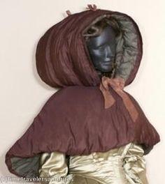 calash bonnet | Extremely Rare c1820's Winter Calash Bonnet w/ Capelet