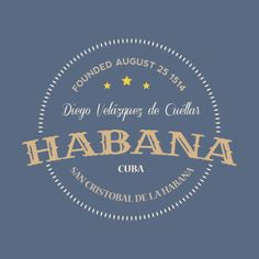 Cuba Pictures, Cuban Restaurant, Cuba Travel, Typography, Lettering, Travel Information, Lower Case Letters, Havana, Badge