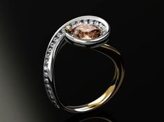 Custom Made Gemstone And Diamond Ring