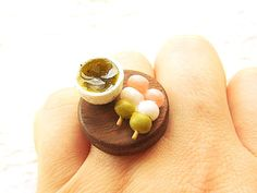 Traditional Japanese Ring Green Tea Food by SouZouCreations, $18.50