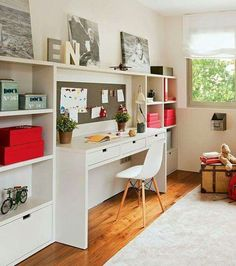 modern kids furniture for studying area in teenage bedroom and kids room Modern Kids Furniture, Modular Furniture, Girls Bedroom, Bedroom Decor, Bedroom Ideas, Bedroom Toys, Bedroom Wall, Wall Decor, Student Bedroom