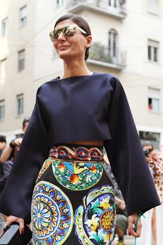 Giovanna Battaglia Milan Fashion Week Street Style ss15 photo by Claudia Bellotti for Tessabit