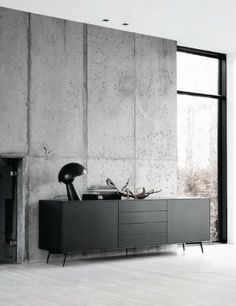 concrete slab wall via French By Design: Tuesday Mix : Black and White