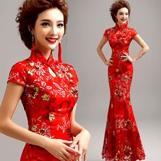 Find More Cheongsams Information about Red Long Cheongsam Qipao Chinese Traditional Dress Chinese Dress Cheongsam Chinese Wedding Dress Qipao Vestido De Festa G213,High Quality dress shoes flat feet,China dress crazy Suppliers, Cheap dress clasp from Lengthy handbags online  on Aliexpress.com