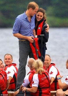 William and Kate in Canada: The Royal couple head to drizzly Prince Edward Island for a windswept Dragon Boat race Prince William News, Prince William And Catherine, William Kate, William Arthur, Prince Charles, Duchess Kate, Duke And Duchess, Duchess Of Cambridge, Princesse Kate Middleton
