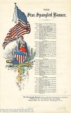 1814 Star Spangled Banner by Frances Scott Key. I Love America, God Bless America, Us History, History Facts, American Flag, American History, American Songs, American Girl, Song Sheet
