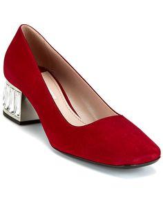 Miu Miu Suede Crystal Heel Pump  PumpWomen #Shoes