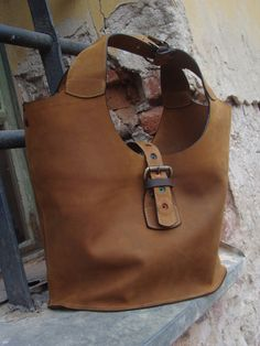 BROWN+LEATHER+BAG+shoulder+bag+by+ladybuq+on+Etsy,+$180.00