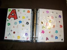 Letter Recognition -- take leftover scrapbooking stickers and create a book so students can see all of the different ways each letter can be formed!