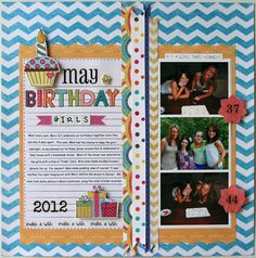 May birthday girls - Scrapbook.com