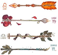 Zodiac Arrows ♈️ Aries were the vanguard, they invented the custom arrows. The purpose of the horns was to stake their claim on the target or territory. ♉️ Taurus arrows are tied together with a lace...