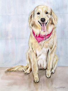 CUSTOM WATERCOLOR PET PORTRAIT! - unframed  Immortalize your pets through art…