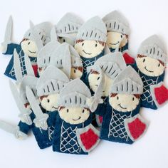 Finger puppet knight.