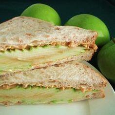 Appel-Pindakaas Sandwich #kinderfeestje #high_tea #sandwich