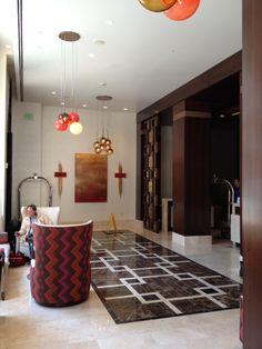 Original Maeve Harris artwork inside the @hoteladagio Lobby in San Francisco!