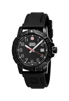 cool Wenger 79014 Sport 3 Swiss Military Watch, PVD, Rubber, Black  –  Rubber