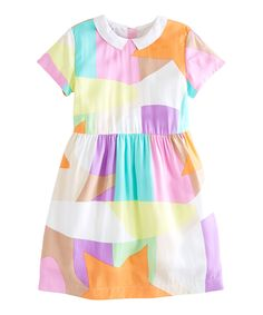 Pastel Spring Geometric Dress - kids | zulily