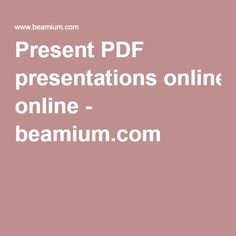 Present PDF presentations online - Present from #browser to browser on the #devices of your #audience.  Upload your #PDF and share the ID with your #listeners.