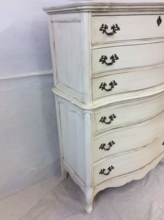 Hand Painted French-Style Chest | Chairish