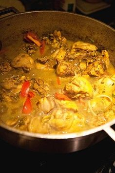 curry chicken cooking