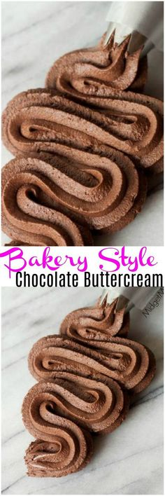 Chocolate frosting just like you get at a bakery and on the cakes bakeries make Style Chocolate Buttercream Frosting. Chocolate frosting just like you get at a bakery and on the cakes bakeries make. Best Chocolate Buttercream Frosting, Cake Frosting Recipe, Frosting Recipes, Cupcake Recipes, Cupcake Cakes, Vanilla Buttercream, Buttercream Bakery, Frosting Tips, Marshmallow Buttercream