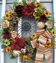 TUSCAN WREATH - mediterranean - accessories and decor - kansas city - by Timeless Floral Creations