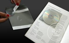 Plastic CD Sleeve  Self adhesive (PVC) CD/DVD Sleeves (CD/DVD envelopes) are used to insert CDs/DVDs to your catalogues, hard CD/DVD cases or files. They are self adhesive stickers. It is very practical and convenient to remove from holder and attach to the file or catalogue cover.